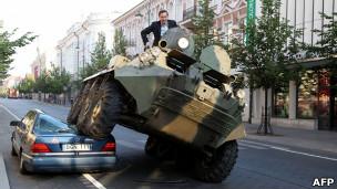 El alcalde de Vilna en plena acción