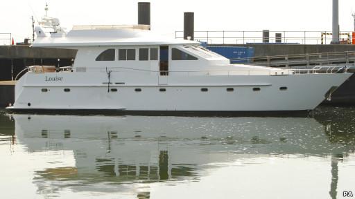 Kapal pesiar Louise di Southampton, Inggris selatan.