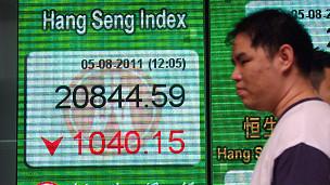 香港恒生指数中午休盘报价(5/8/2011)