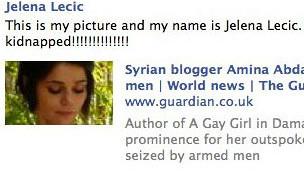 Presunta foto de bloguera siria