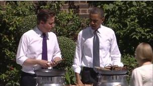 Barack Obama dan PM Inggris Cameron