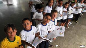Estudantes em Brasília, em foto de arquivo (Ag Brasil)
