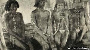 Esclavos en la Amazonía durante la explotación del caucho