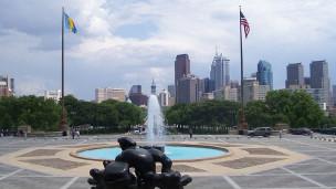 Vista do centro da Filadélfia, a partir do Museu de Arte Moderna da cidade