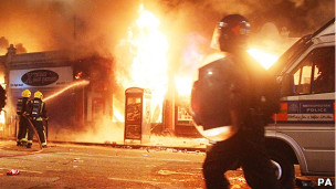 Disturbios en Tottenham