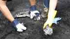 Voluntarios limpiando una calle de Londres