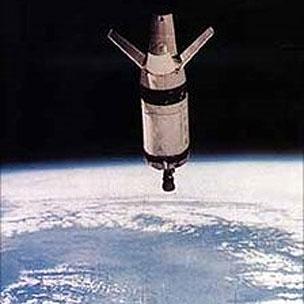 Corpo do foguete que levou o satélite Saturno (Foto: Nasa)