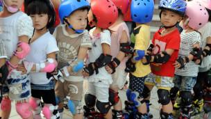 Crianças chinesas na cidade de Haozhou. Getty