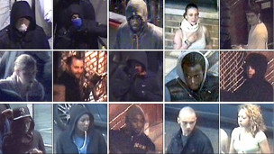 Imágenes de cámaras de seguridad con buscados por los saqueos