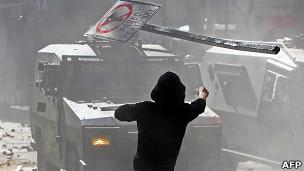 Protestas estudiantiles en Chile. Archivo