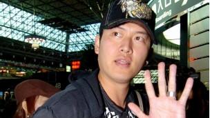 在美国大联盟职棒担任投手的台湾球员王建民