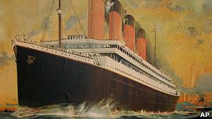 Litografía de poster del R.M.S Titanic de Montague Black (1884-1940),