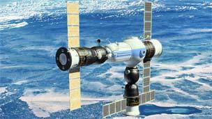 Representação artística da Commercial Space Station/Oribital Technologies
