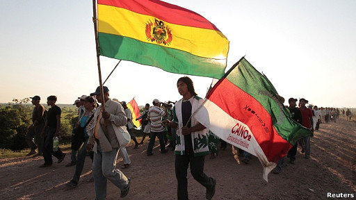 marcha de indígenas del tipnis