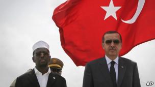 Премьер-министр Турции Эрдоган и президент Сомали Шариф Ахмед