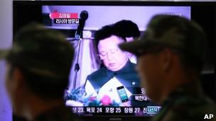 韩国电视台播放朝鲜领导人金正日2002年访问俄罗斯的录像片段(20/08/2011)