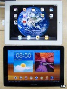 La Apple iPad y la Samsung Galaxy Tab 10.1