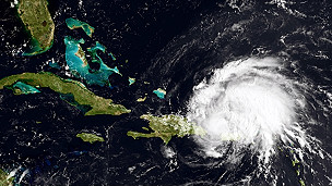 Imagen satelital de Irene