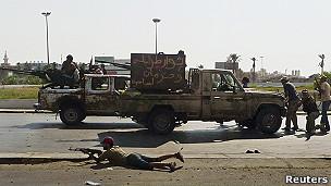 Rebeldes en Trípoli