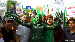 Partidarios de Gadafi en Sirte
