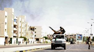 Rebeldes nas ruas de Trípoli. AFP
