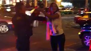 Incidente en Polanco (Foto extraída del video de YouTube)