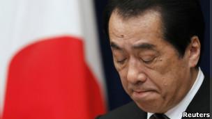 日本前首相菅直人在东京宣布辞职(26/8/2011)