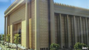 Imagem digital de como será o Templo de Salomão