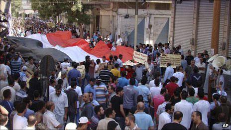 叙利亚示威者(26/08/2011)