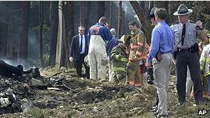 Место падения самолета в Пенсильвании