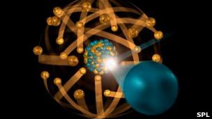 Ilustración de fisión nuclear