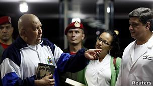 Hugo Chávez, presidente de Venezuela, en el Hospital Militar de Caracas