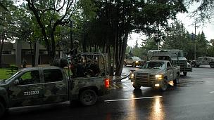 Militares viajan a Monterrey