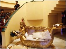 gaddafi sofa