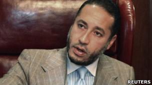 卡扎菲三子萨阿迪(资料图片)