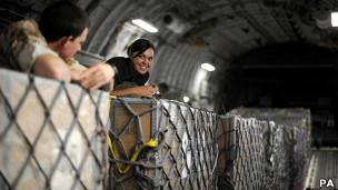 Transporte del dinero a Libia