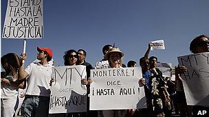 Manifestación en México contra la violencia.