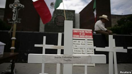 Protesta en México contra la violencia.