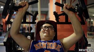 Academia de ginástica em Pequim. Reuters