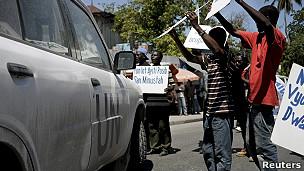 Protesta contra Minustah en Haití.