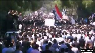 مظاهرة في سورية