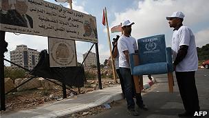 Assento palestino e da ONU