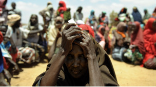 Campo de refugiados na Somália. AFP