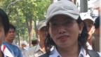 Blogger Tạ Phong Tần trước lúc bị bắt