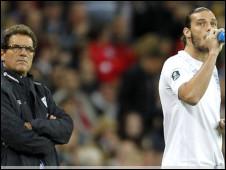 Fabio Capello na Andy Carroll