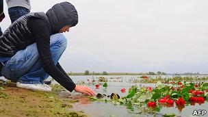 Цветы на месте крушения Як-42