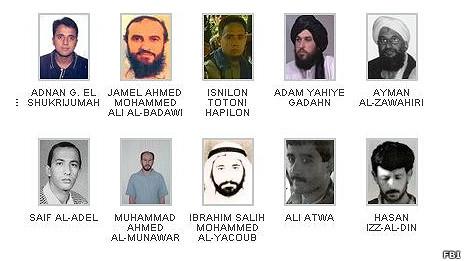 """Danh sách """"khủng bố"""" bị truy nã của FBI"""