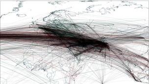 График координат с упоминанием бин Ладена
