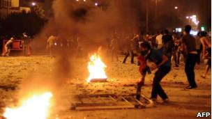 Protesto contra a embaixada israelense no Cairo