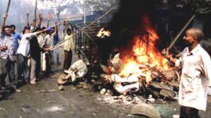 गुजरात हिंसा (फ़ाईल)
